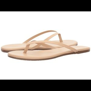 8a38c21e7 TKEES Shoes - New Tkees Foundations Leather Flip-flops Sandals 7